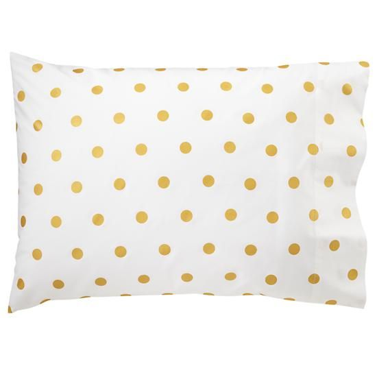 Polka Dot Pillowcases Stunning The Land Of Nod  Gold Dot Case In Sheet Sets  Bedrooms  Pinterest Decorating Inspiration