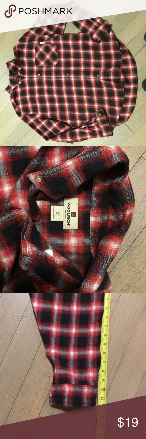Flannel jacket with fur inside  Vintage Woolrich Red plaid flannel shirt  Plaid flannel Red plaid