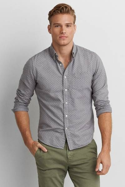 a658b66636f7 AEO Oxford Button Down Shirt by AEO | Iconic style. Shop the AEO Oxford  Button Down Shirt and check out more at AE.com.
