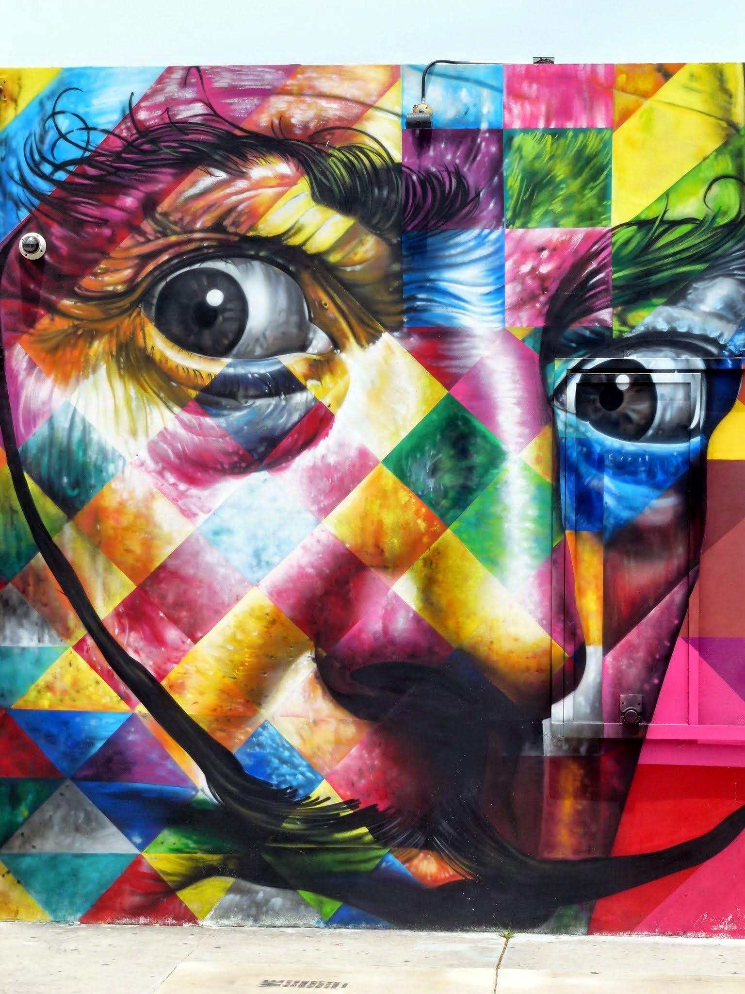 Lartiste Bresilien Eduardo Kobra A Marque Par Son Empreinte Coloree Le Art Basel  Et La Planete De Lart Urbain Toute Entiere Avec Cette Fresque