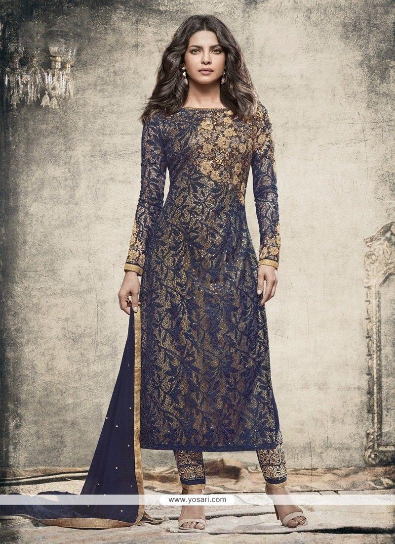 Priyanka Chopra Net Brasso Churidar Designer Suit Model  YOS8195 889a6dc1b