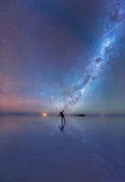 Dancing among the stars Salar de Uyuni Bolivia Say Yes To Adventure