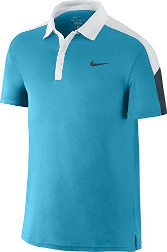 Nike Men S Team Court Tennis Polo Shirt Blue Lagoon White Classic Charcoal Modesens Shirts Blue Polo Shirt Nike Men