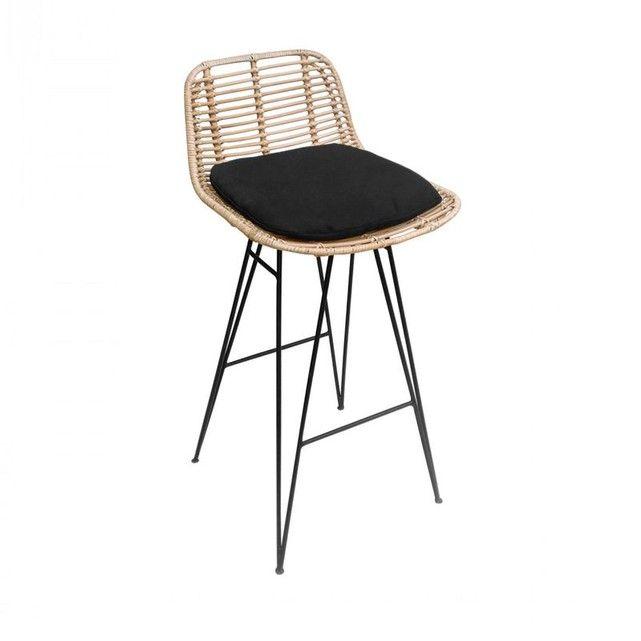 Chaise De Bar Design En Rotin 67cm Capurgana Chaise De Bar Design Chaise Bar Tabouret De Bar