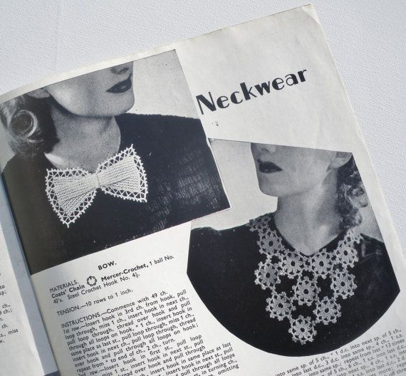 Modern Crochet Vintage 1940s Crochet Patterns by Penelope retro UK ...