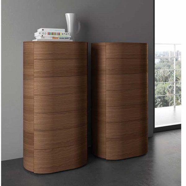 Cassettiera settimanale moderna in legno curvo Babila Sangiacomo nel ...