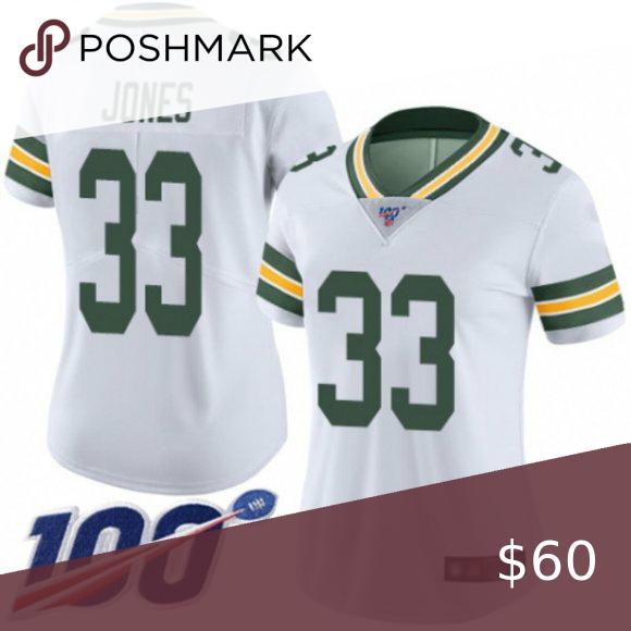 Women Packers Aaron Jones 100th Season Jersey Nwt In 2020 Green Bay Packers Jerseys Aaron Rodgers Women