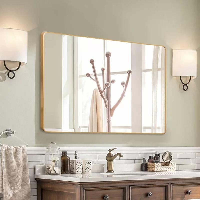 Flippo Rectangular Round Corner Bathroom Vanity Mirror In 2021 Large Bathroom Mirrors Bathroom Mirror Cabinet Bathroom Vanity Mirror