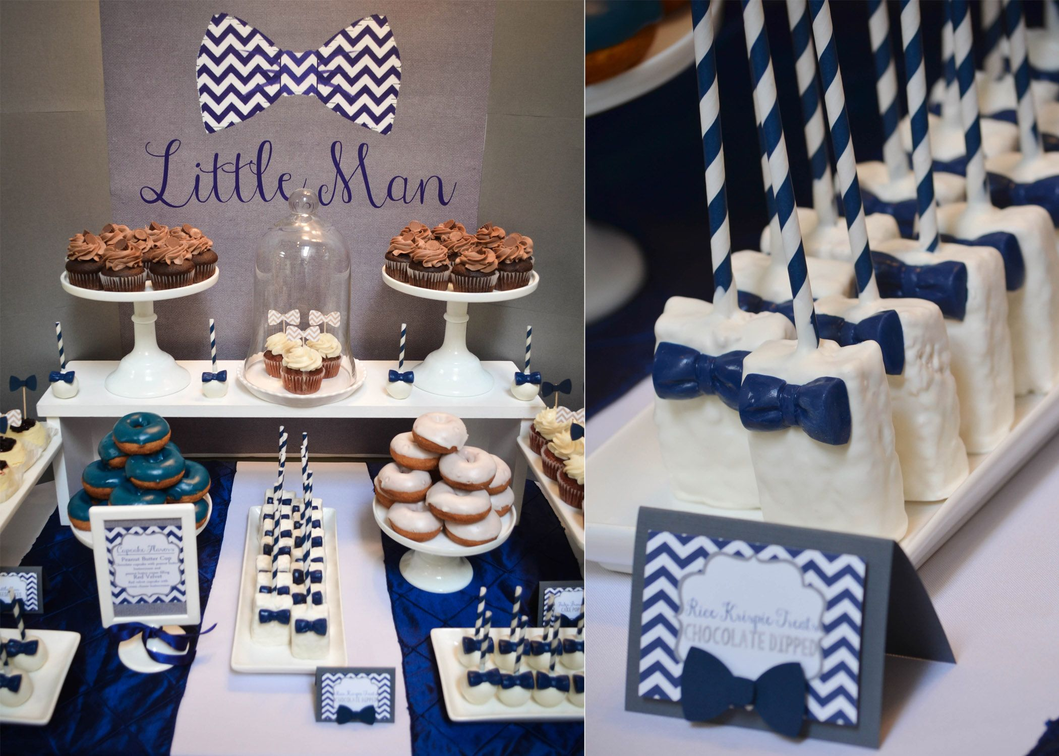 Our Little Man  BowTie Baby Shower Dessert Table  Baby shower