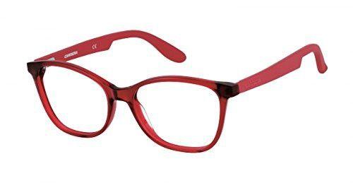 Carrera 5501 Eyeglass Frames CA5501-0BDA-5217 - Burgundy Matte Red ...
