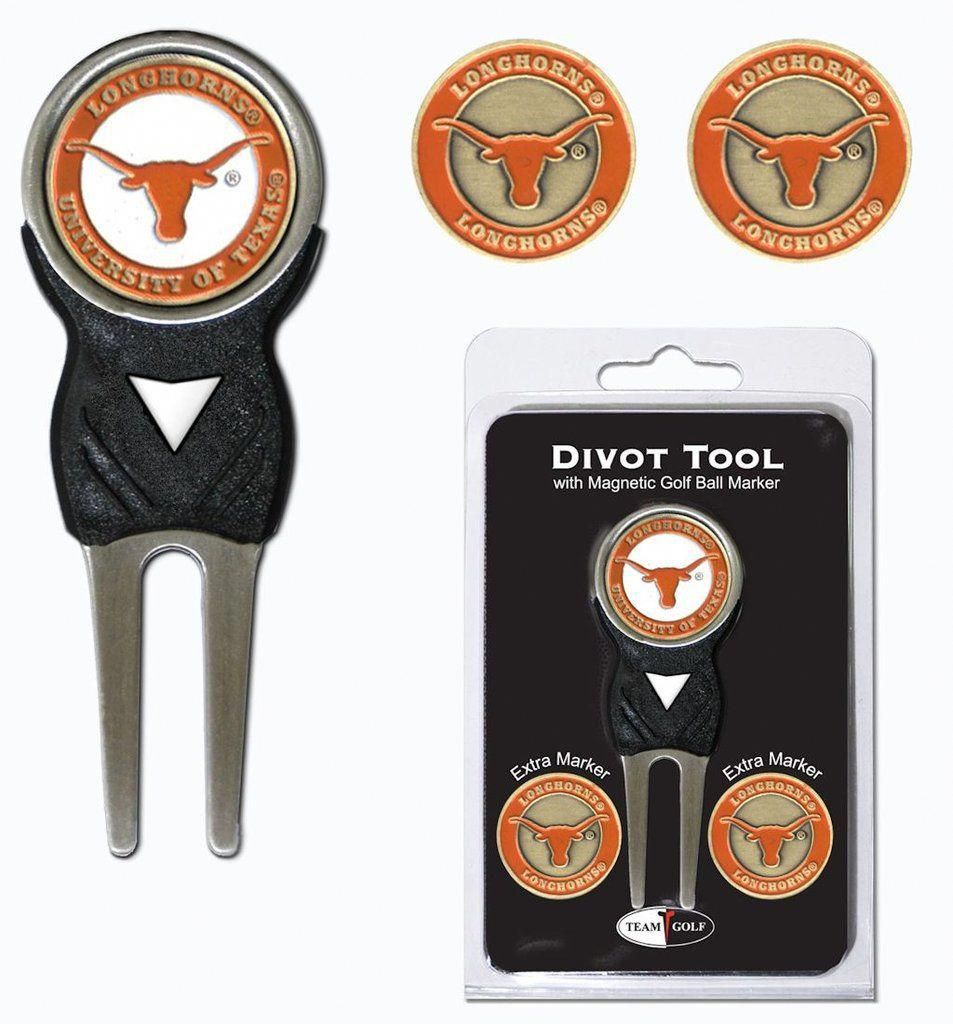 Texas Longhorns Golf Divot Tool with 3 Markers golftips