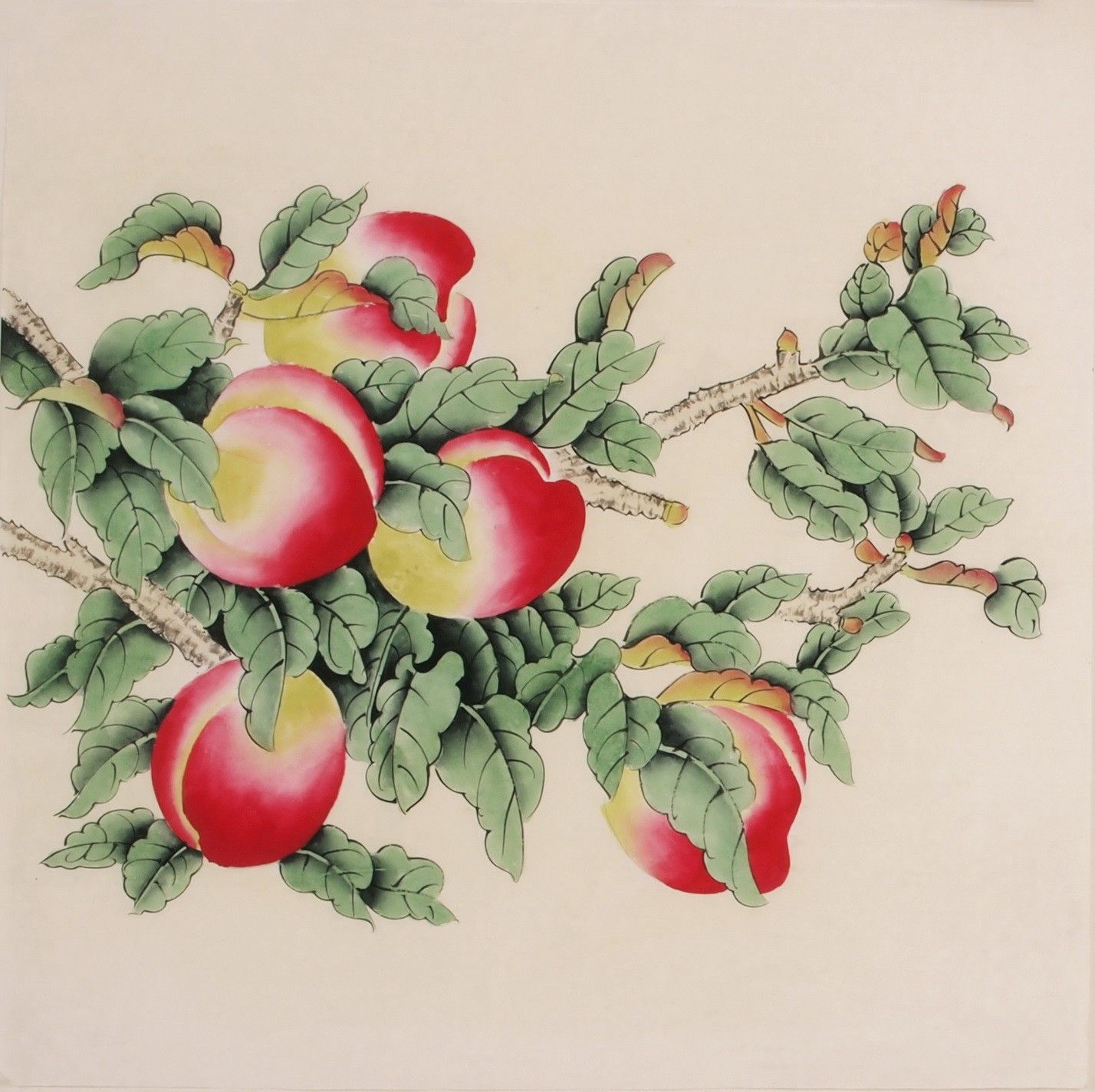 Peach blossom cnag005727 peach paintings and chinese painting chinese peach paintings buycottarizona Image collections