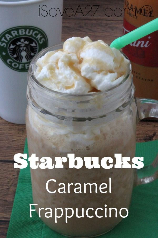 Check out this recipe for a Starbucks Caramel Frappuccino! Everyone loves a Starbucks frappuccino! Now you can make your own Caramel Frappuccino at home!