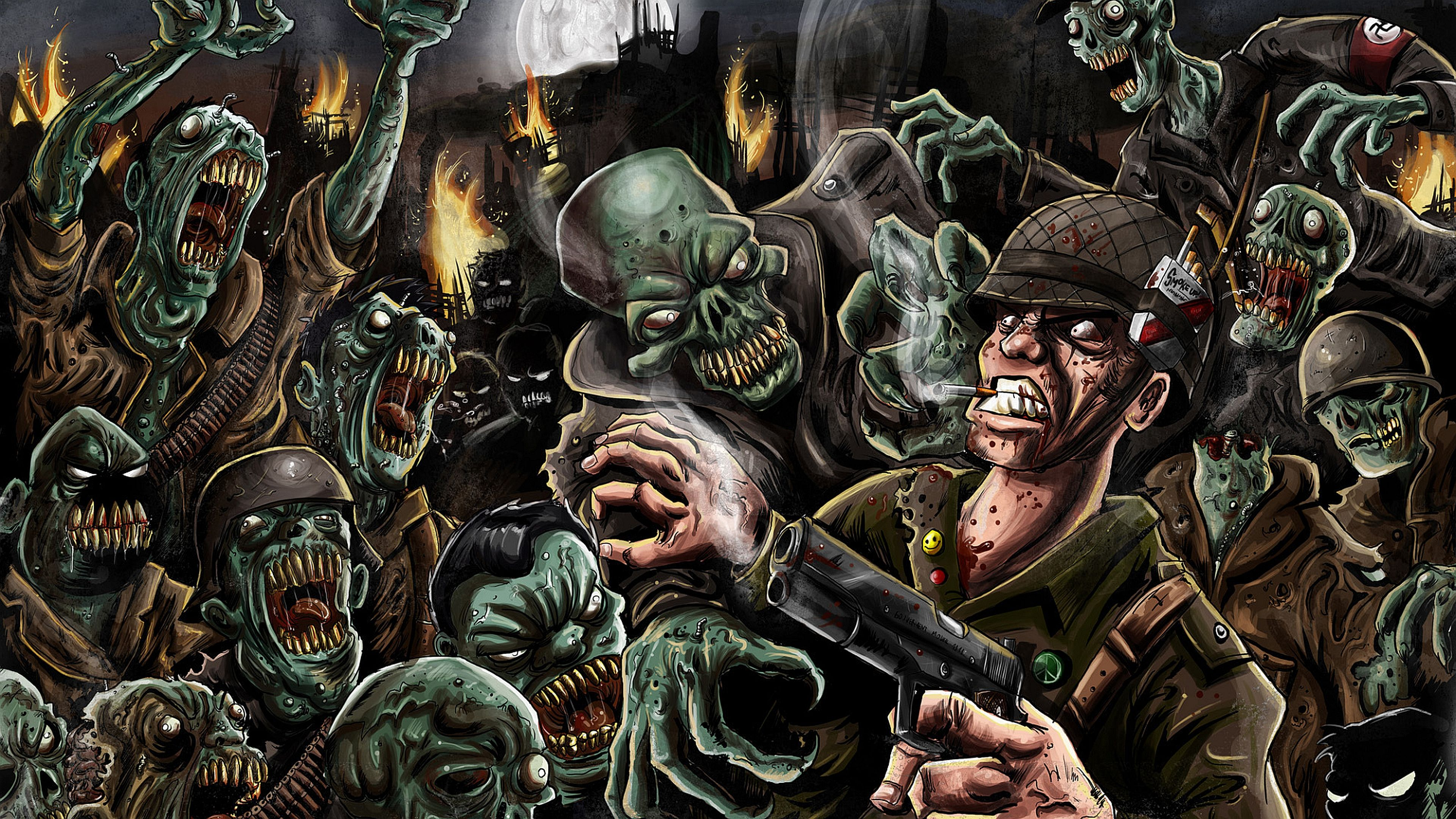 Dark Zombie Wallpaper Zombie Wallpaper Zombie Cartoon Zombie