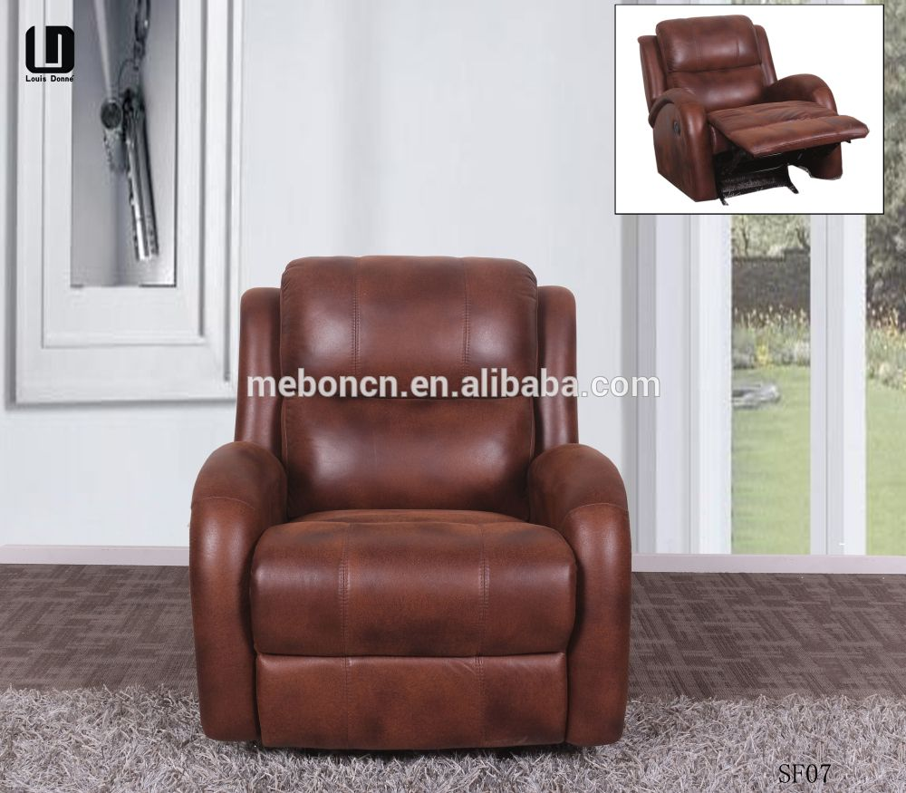 New Brown Rocker Recliner Cup Holder Lazy Chair Seat Barcalounger