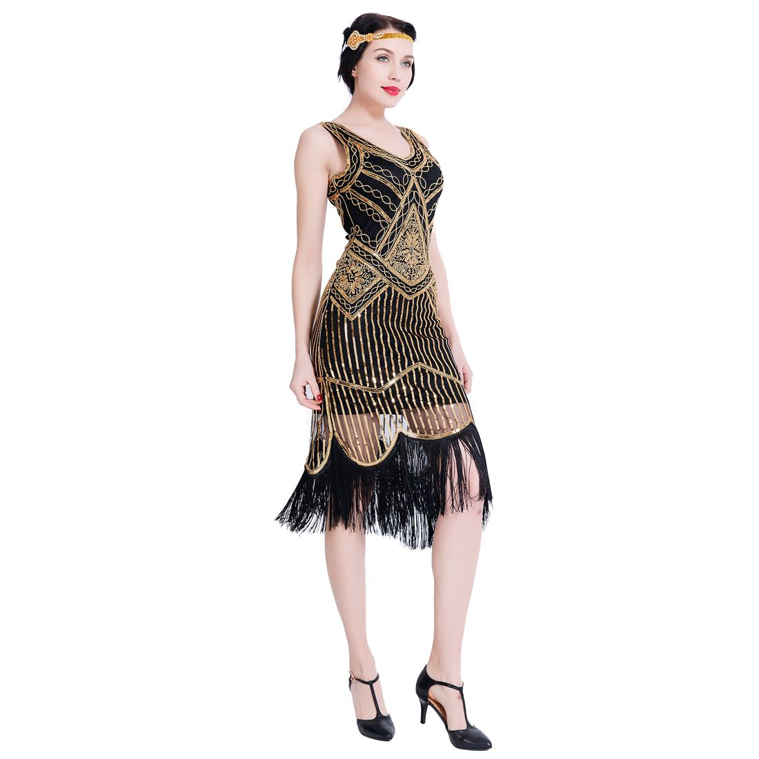 Great Gatsby 1920s Flapper Dress Art Deco Women Vintage Clothing Fashion Art Dress Flapper Dress