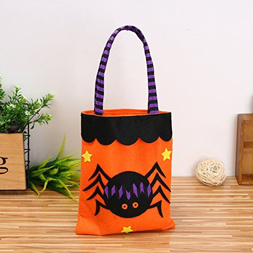 Cute Halloween Bags Trick or Treat Candy Bags Witches Pumpkin Bags - decorate halloween bags