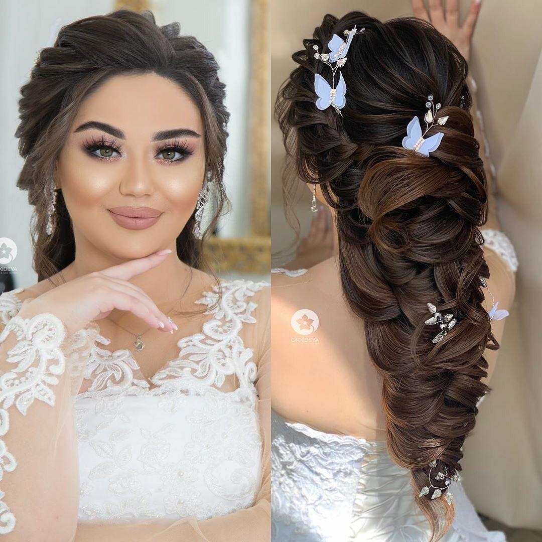393 Likes 3 Comments Gelin Sac Makiyaj Wedding Orxideyabeauty Vip On Instagram Sac Duzumu Stilist Solmaz Easy Updo Hairstyles Hair Styles Hair Hacks