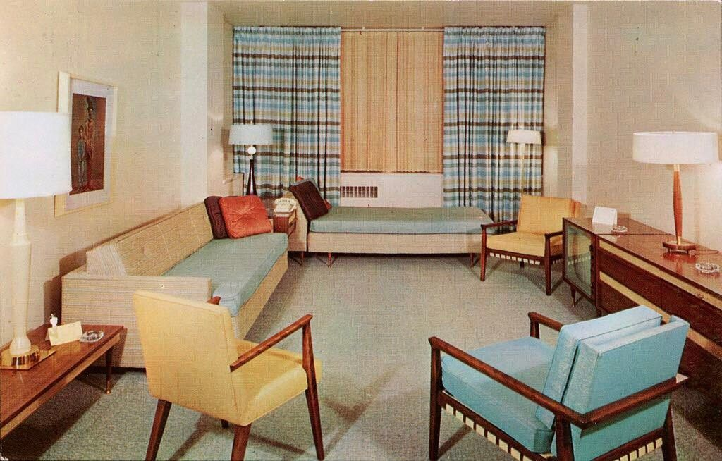 Early 1960s living space.   1960s home decor, 60s home ...