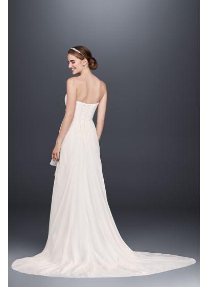 055d2cb4 Draped Chiffon Sheath Wedding Dress with Beading Style WG3872, Soft ...