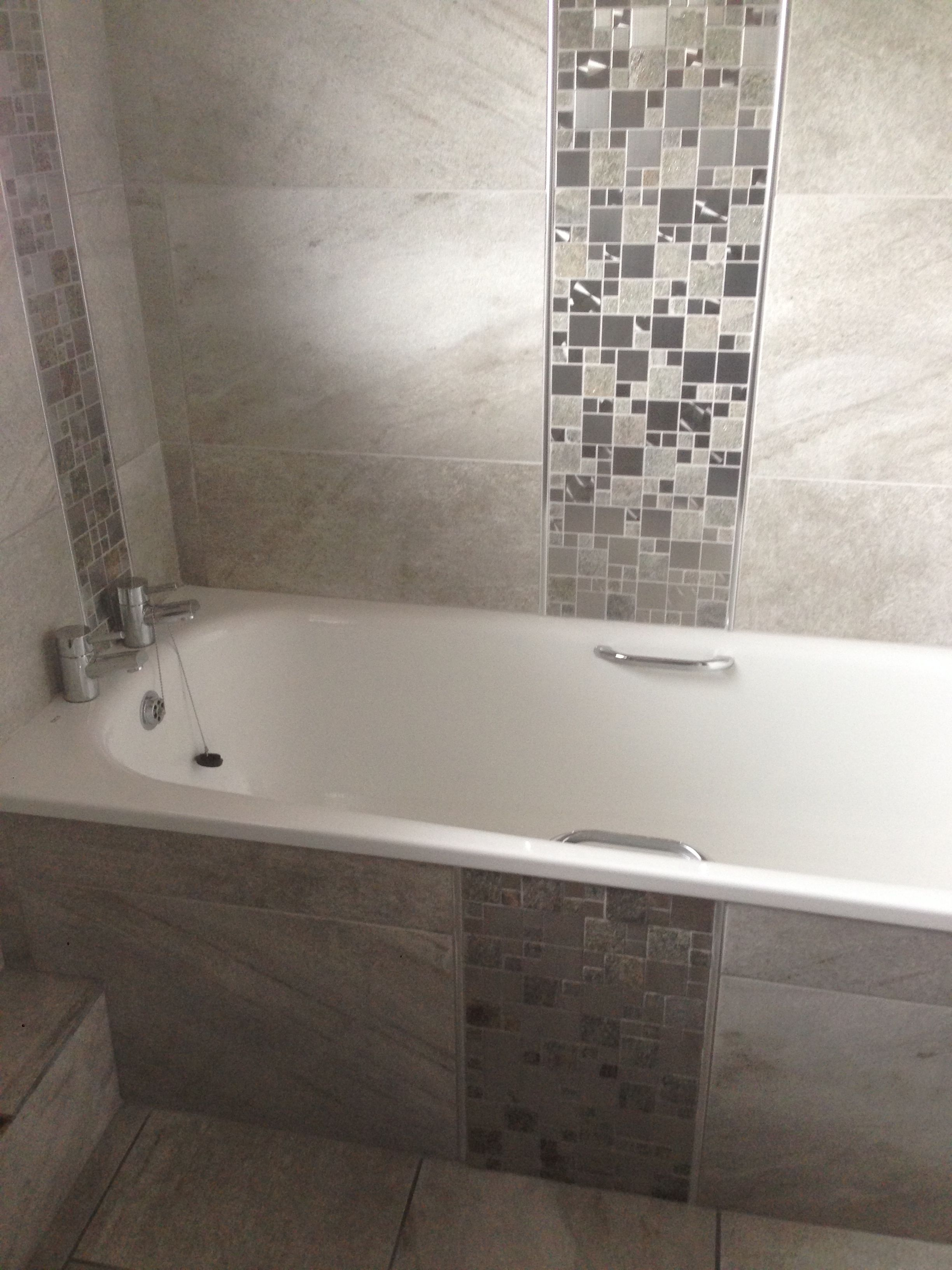 Matching Tiled Bath Panel Tiled Bath Panel Bath Panel Bathroom Feature Wall