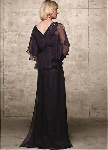 Glamorous Chiffon A-Line V-Neckline Full Length Mother of the Bride Dress
