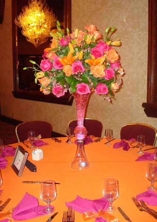 Quinceanera decorations flower centerpieces