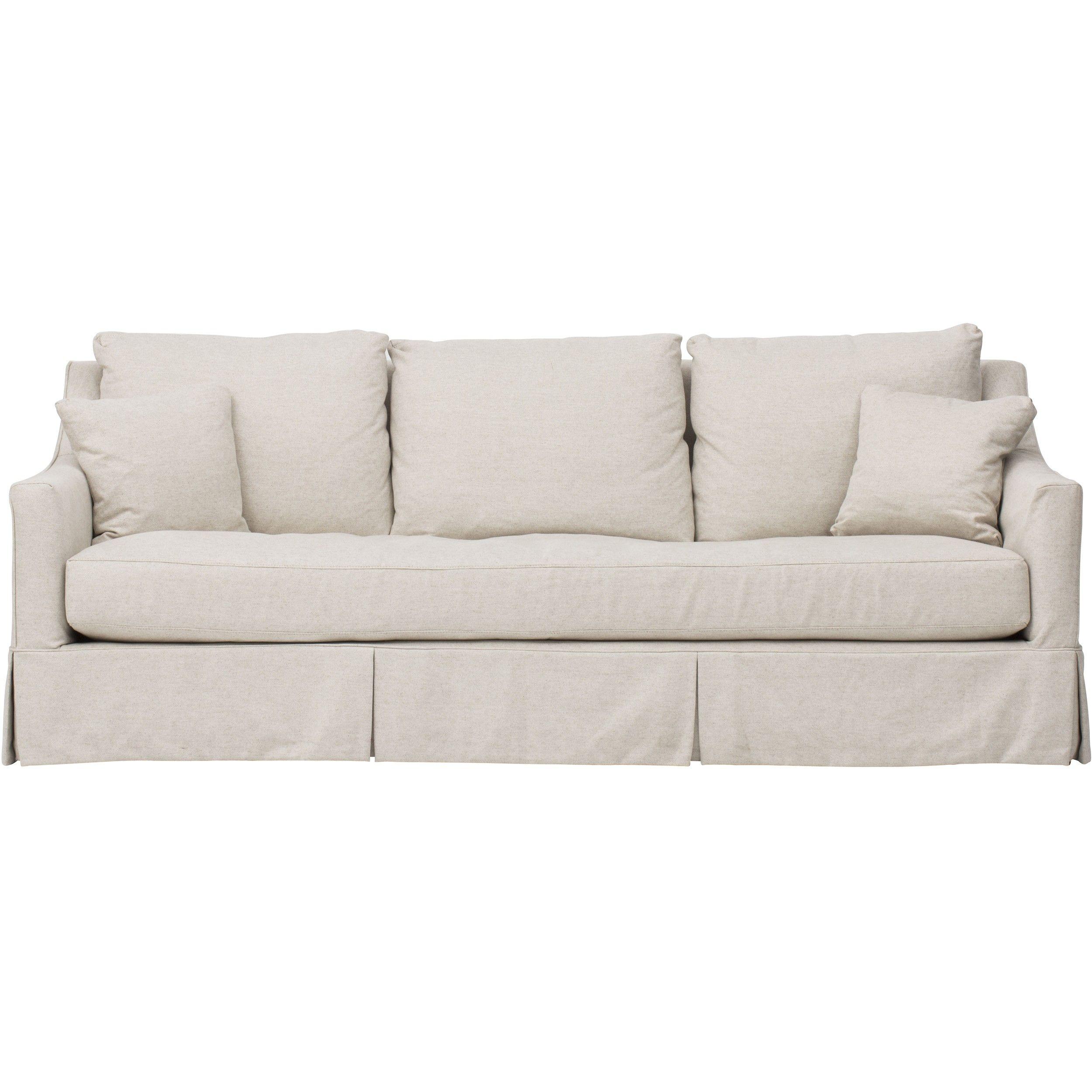 Lily Slipcover Sofa, Duet Natural | florida | Sofa furniture ...
