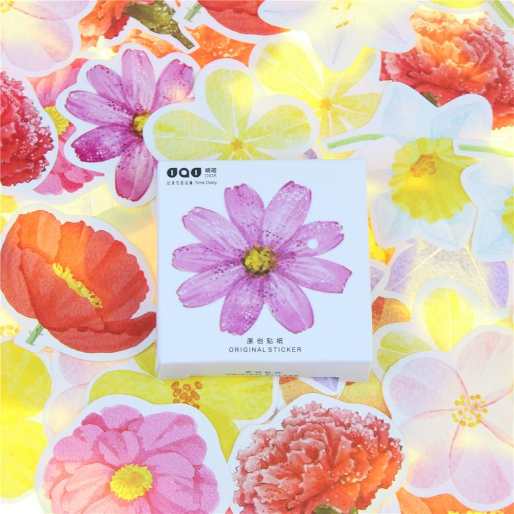 flower power stickers in 2018 | products | diary decoration