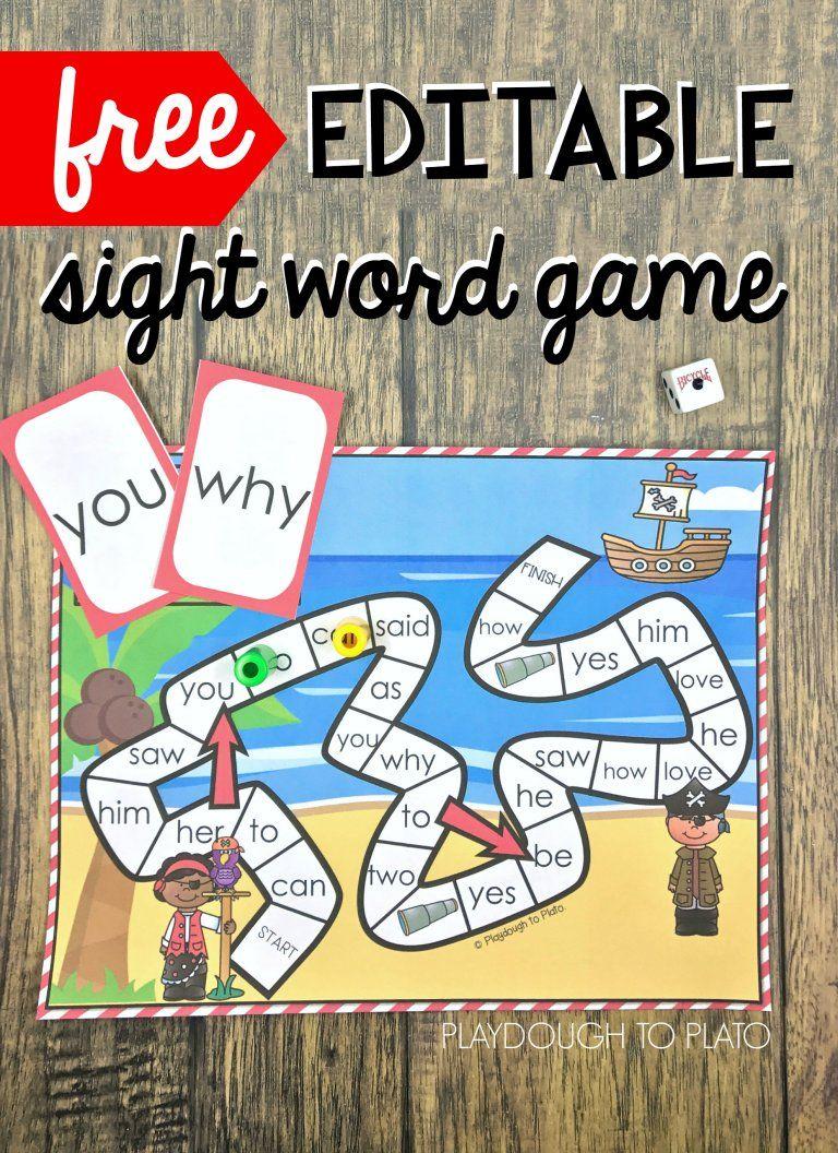 Pirate Sight Word Game | Kind und Klasse
