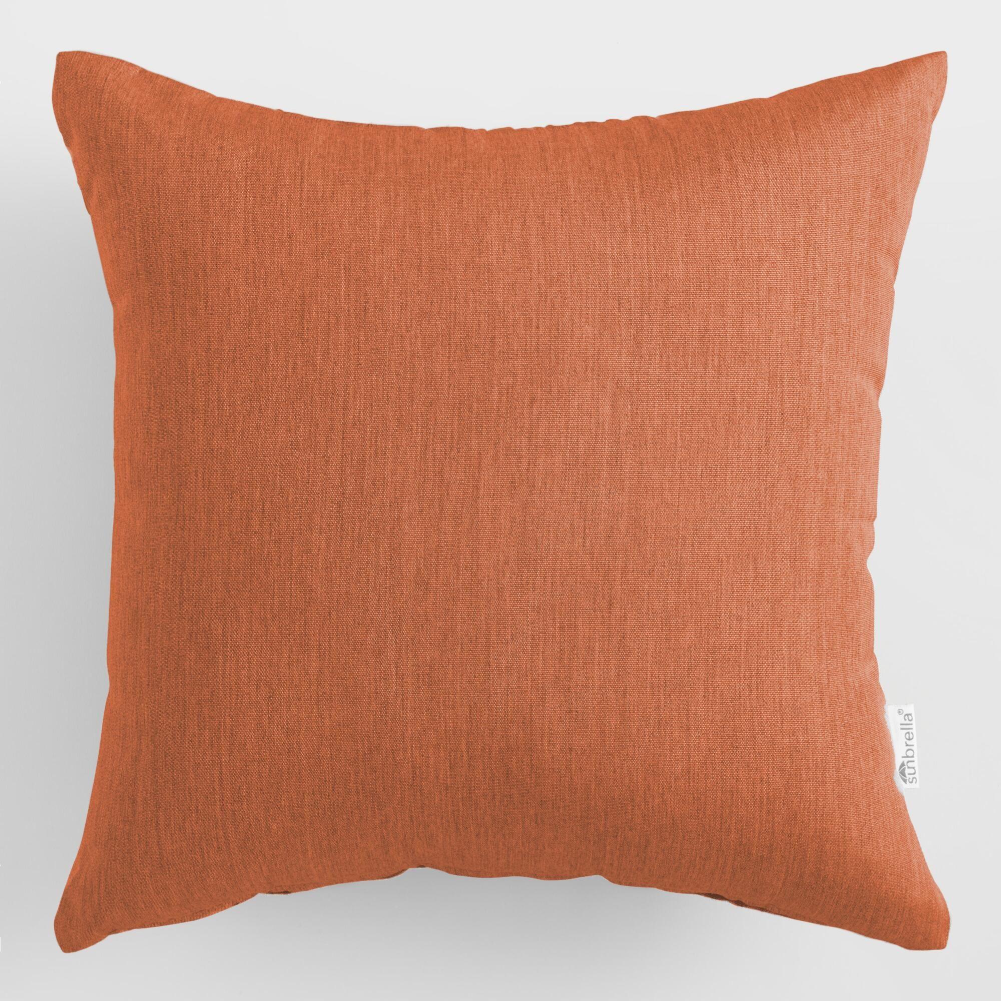 Astounding Sunbrella Rust Canvas Outdoor Patio Throw Pillow Orange By Theyellowbook Wood Chair Design Ideas Theyellowbookinfo