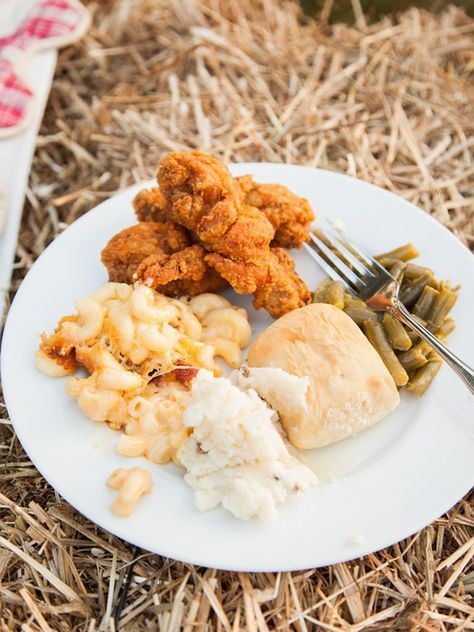 Southern wedding food for a reception dinner... Mac and Cheese, Mashed Potatoes,...   - Wedding -
