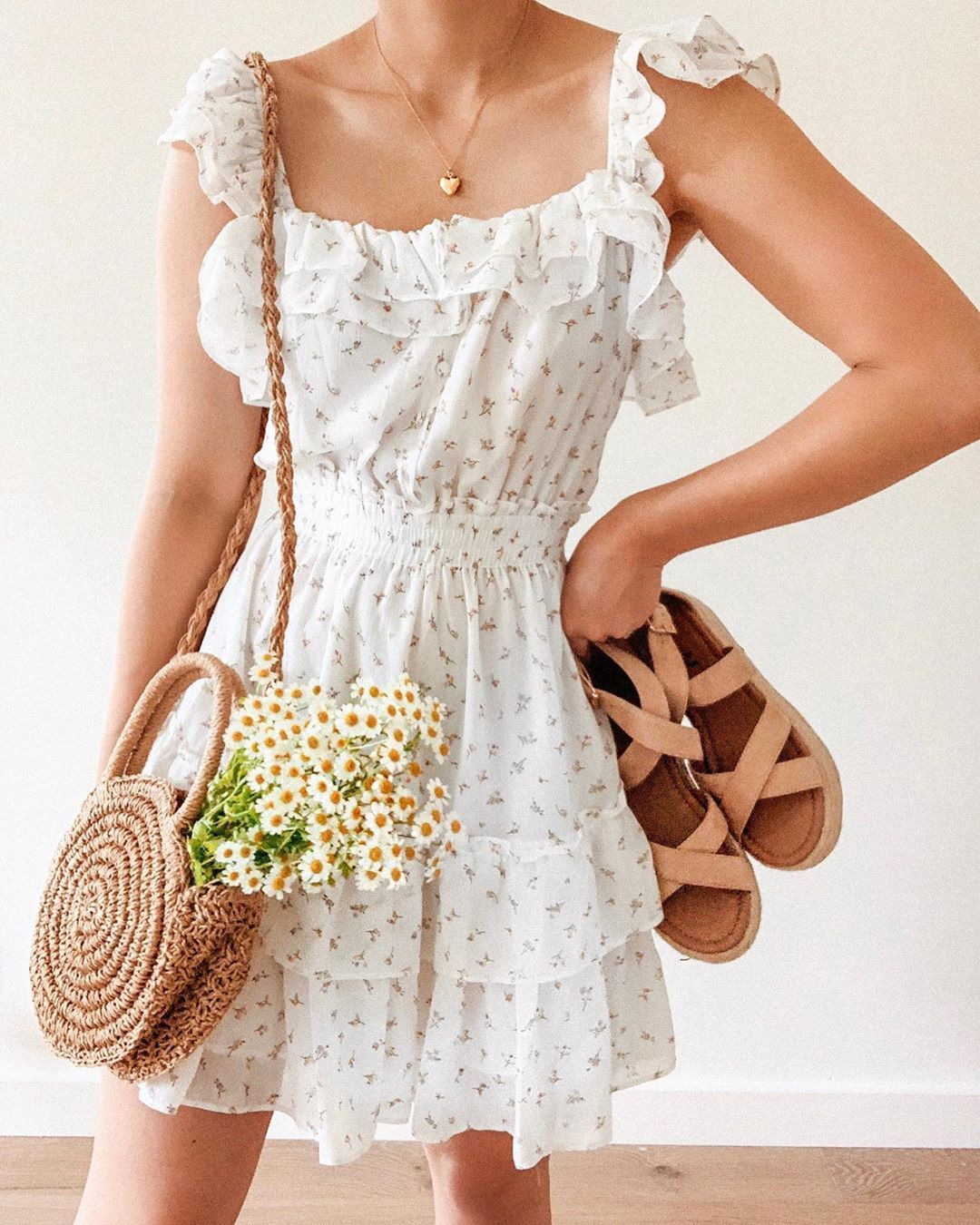 Breath Of Youth On Instagram Our Summer Love Dress Sunday Picnic Sandals Tap To Shop This Look Fashion Picnic Outfits Romantic Outfit [ 1350 x 1080 Pixel ]