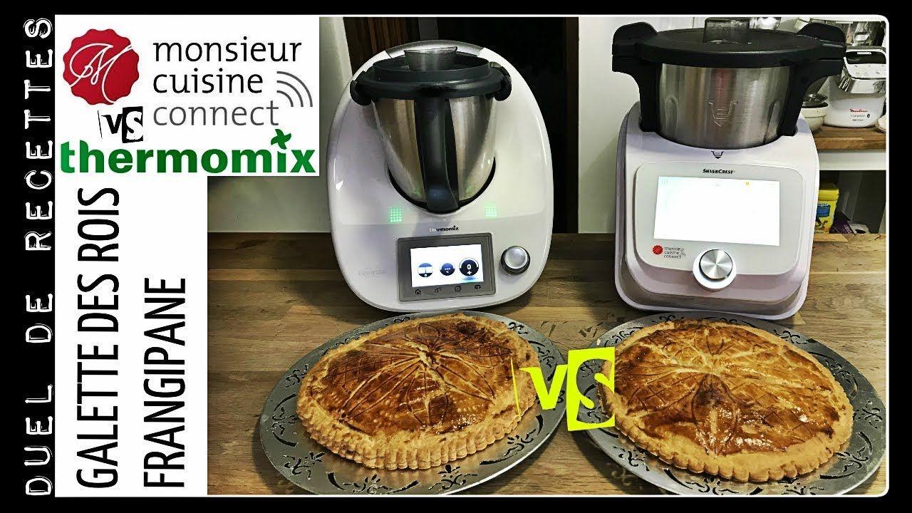 DUEL DE RECETTES : GALETTE DES ROIS FRANGIPANE (Monsieur cuisine connect VS Thermomix)