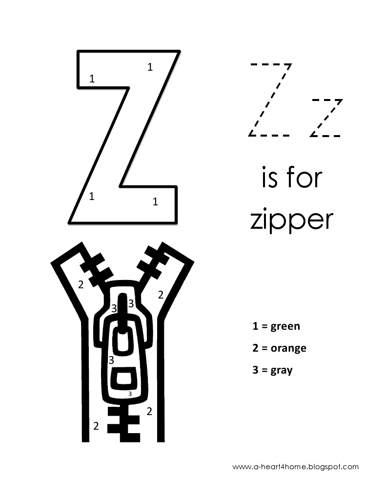 lowercase alphabet color by number z is for alphabet coloring lowercase a letter z crafts. Black Bedroom Furniture Sets. Home Design Ideas
