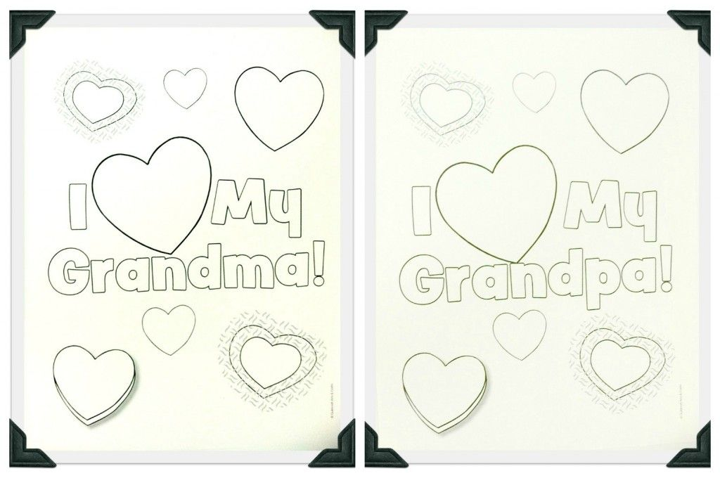 Freebie Friday - Grandparents Day Coloring Sheets - Guildcraft Arts - best of happy birthday nana coloring pages
