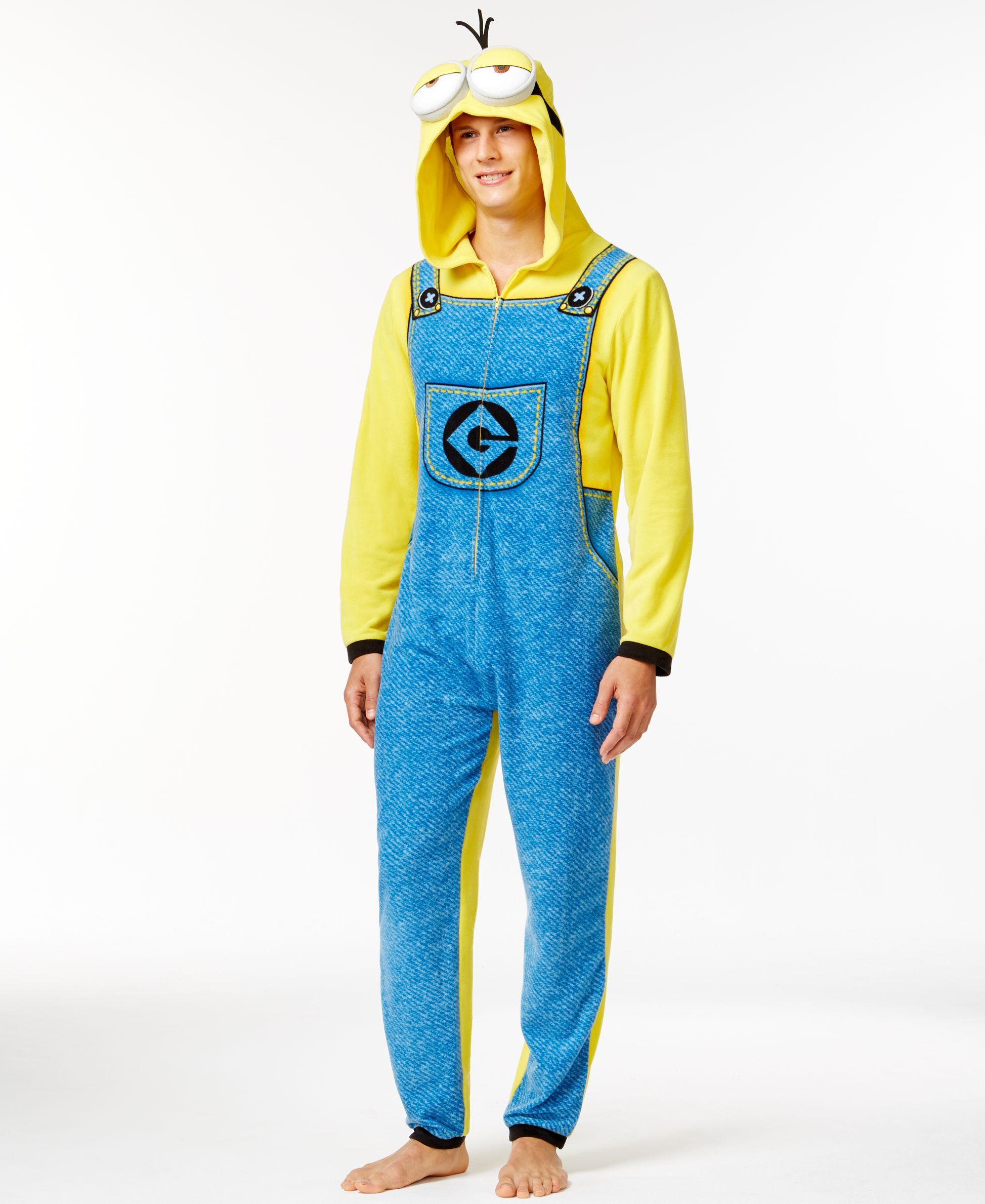b6b823a5e094 Briefly Stated Despicable Me Minion Hooded One-Piece Pajama Suit ...