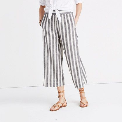 392b754e43 Huston Pull-On Crop Pants in Stripe - wear Worth pants with white tied  shirt and cropped sweater