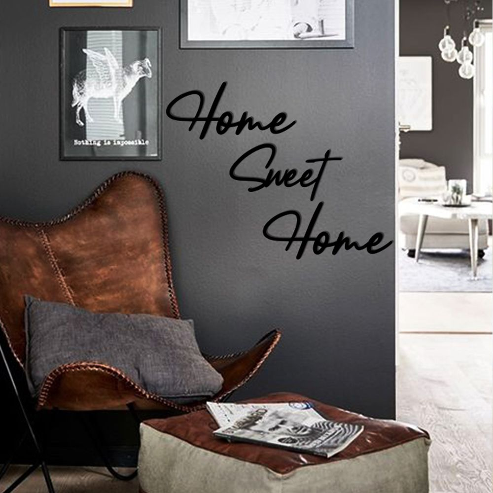 Bold Grup Home Sweet Home Metal Wall Hanging Wall Quotes Metal Wall Art In 2020 Black Painted Walls Metal Wall Art Metal Wall Decor