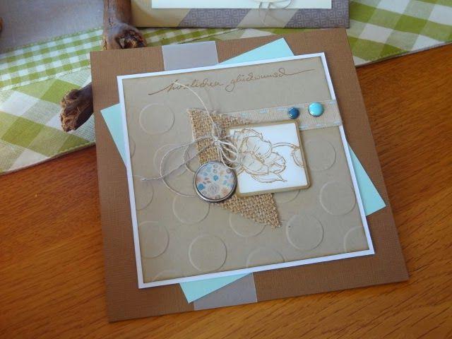 Stempelelemente, Geburtstagskarte, Brads, braun, Savanne, Mohnbume, Stampin up