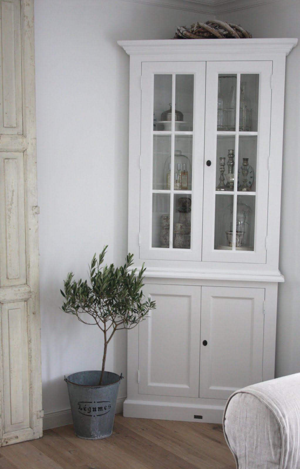 Shabby Homestyles Corner Cabinet  Interior Decor  Pinterest Prepossessing Small Corner Cabinets Dining Room Inspiration