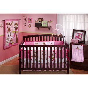 3 Little Monkeys 10pc Nursery in a Bag Crib Bedding Set, ...