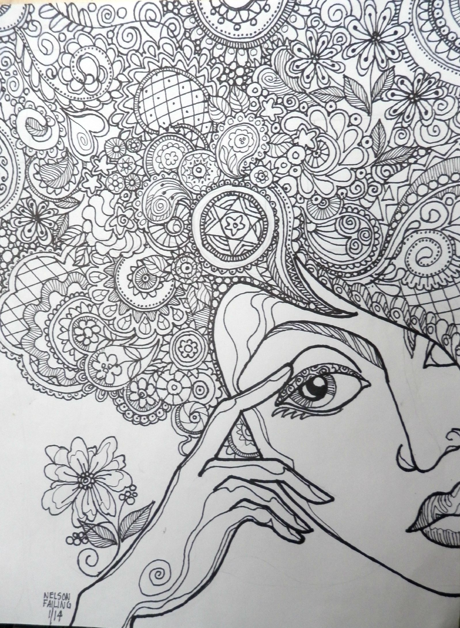 I 39 VE GOT TANGLES ON MY MINDNelson Failing Zentangle