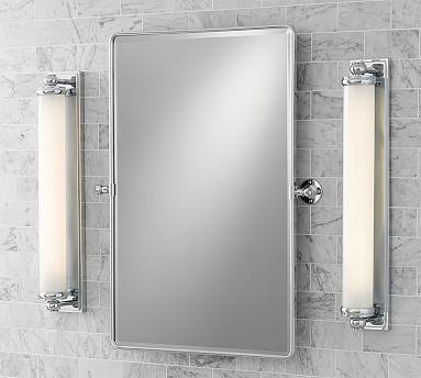Mercer Extra Long Tube Sconce Chrome Bath Sconces Pinterest - Long bathroom sconces