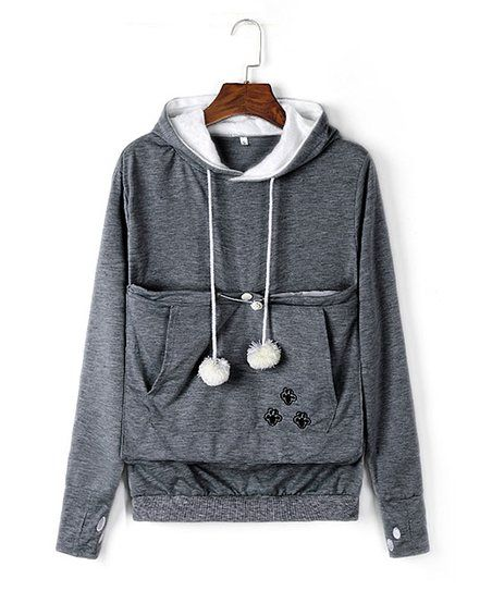 Royal Wise Dark Gray Pet Pouch Sweatshirt Zulily Our Best - Hoodie with kangaroo pouch is the perfect cat accessory