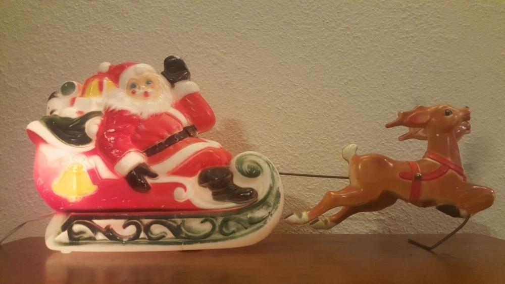 Christmas Sleigh Santa Reindeer