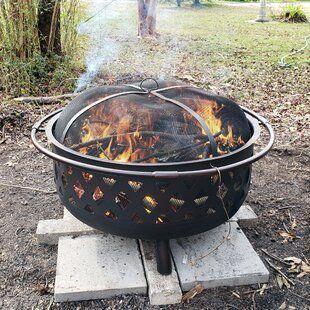 Canora Grey Quillen Steel Wood Burning Outdoor Fireplace ... on Quillen Steel Wood Burning Outdoor Fireplace id=61736