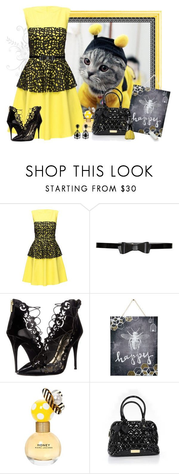 """Beauty Buzz"" by love-n-laughter ❤ liked on Polyvore featuring Lattori, Alice + Olivia, Lust For Life, Graham & Brown, Marc Jacobs, Betsey Johnson and Anna Sui"