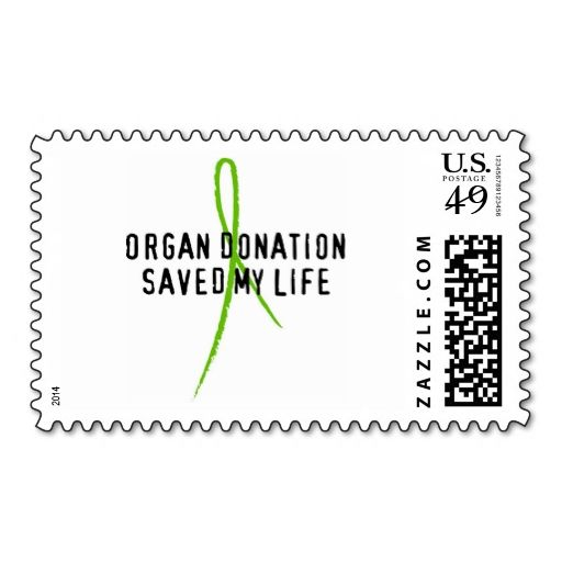 Organ Donation Saved My Life Postage Organ donation - donor list template