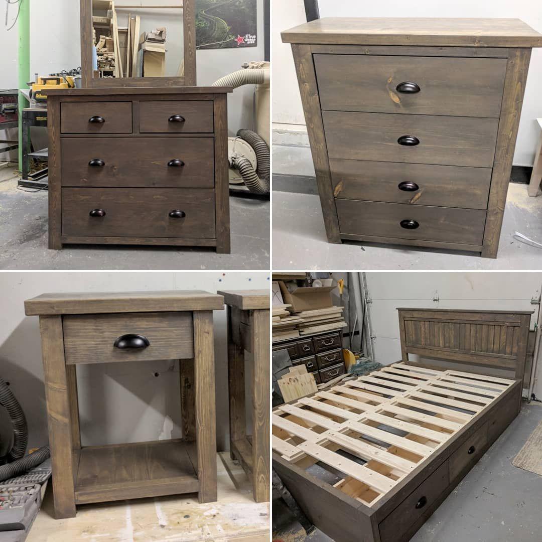 Rustic Bedroom Set In Briarsmoke Stain Rustic Bedroom Furniture Rustic Bedroom Sets Rustic Bedroom